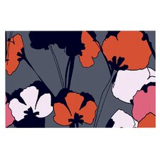 Pop Flowers by Gabriela Fuente Decorative Doormat