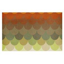 Half Circle Waves Color by Danny Ivan Decorative Doormat