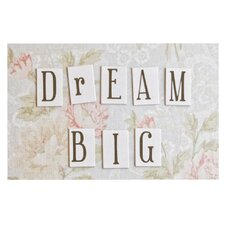 Dream Big by Debbra Obertanec Quote Floral Decorative Doormat