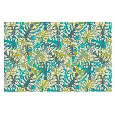 Tropical Leaves by Julia Grifol Decorative Doormat