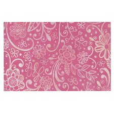 Too Much Pink by Heidi Jennings Floral Decorative Doormat