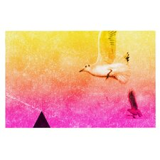 Seagulls in Shiny Sky by Frederic Levy-Hadida Decorative Doormat