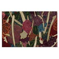 New Life by Jaidyn Erickson Red Flowers Decorative Doormat