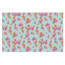 Paper Flower by Laura Escalante Decorative Doormat