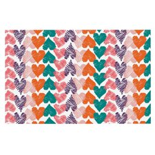 Hearts by Louise Machado Decorative Doormat