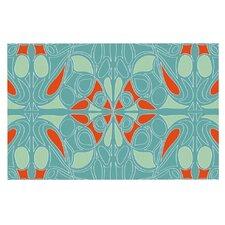Seafoam and Orange by Miranda Mol Decorative Doormat