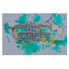 Hunting For Jazz Blue by Kira Crees Decorative Doormat