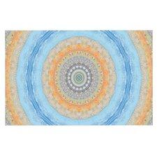 Summer Mandala by Iris Lehnhardt Circle Decorative Doormat