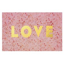 Love Roses by Leah Flores Flowers Decorative Doormat