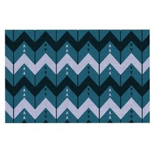 Chevron Dance by Nick Atkinson Decorative Doormat