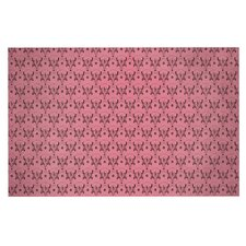 Pink Hummingbird by Louie Gong Decorative Doormat