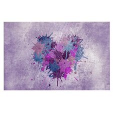 Painted Heart by Nick Atkinson Decorative Doormat