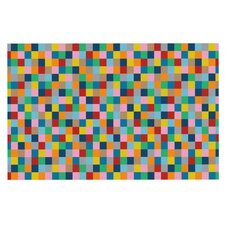 Colour Blocks by Project M Geometric Rainbow Decorative Doormat