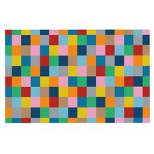 Colour Blocks Zoom by Project M Geometric Rainbow Decorative Doormat