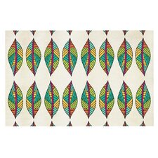 Tribal Leaves by Pom Graphic Design Decorative Doormat