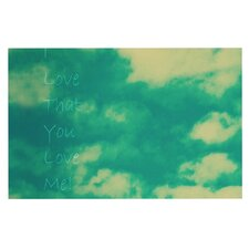 I love that you love me by Robin Dickinson Decorative Doormat