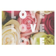 Love Love Love by Libertad Leal Roses Decorative Doormat