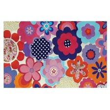 Patchwork Flowers by Louise Machado Decorative Doormat