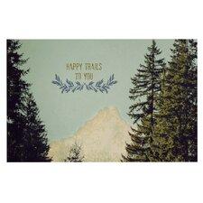 Happy Trails by Robin Dickinson Decorative Doormat