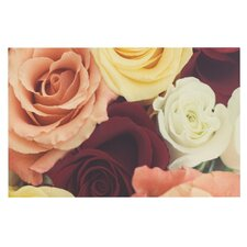 Vintage Roses by Libertad Leal Decorative Doormat