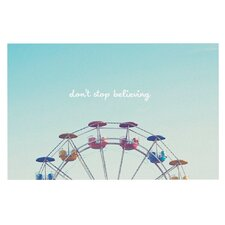 Don't Stop Believing by Libertad Leal Ferris Wheel Decorative Doormat