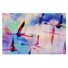 Flamingo in Flight by Nikki Strange Decorative Doormat