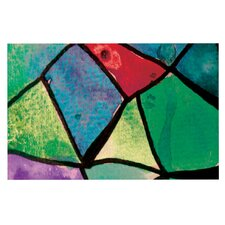 Stain Glass 1 by Theresa Giolzetti Decorative Doormat