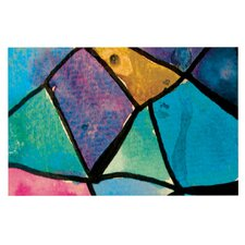 Stain Glass 2 by Theresa Giolzetti Decorative Doormat