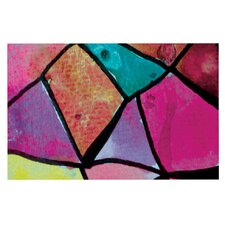 Stain Glass 3 by Theresa Giolzetti Decorative Doormat