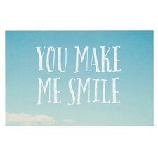 You Make Me Smile by Susannah Tucker Beach Sky Decorative Doormat