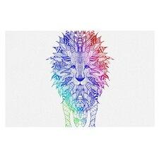 Rainbow Lion by Monika Strigel Decorative Doormat