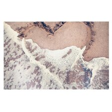 Heart in the Sand by Nastasia Cook Beach Decorative Doormat