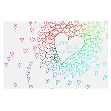 Rainbow Hearts by Monika Strigel Decorative Doormat