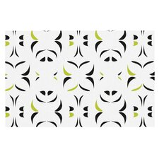 Retro Green Snow Storm by Miranda Mol Decorative Doormat