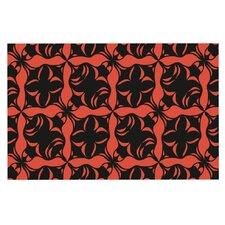 Oval Orange Love by Miranda Mol Decorative Doormat
