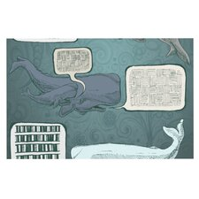 Whale Talk by Sophy Tuttle Decorative Doormat