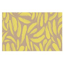 Yellow Feather by Skye Zambrana Decorative Doormat