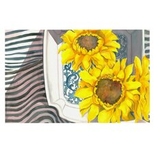 Finall Sunflower by S. Seema Z Flower Decorative Doormat