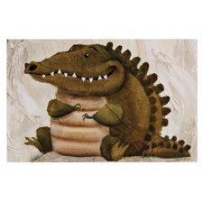 Smiley Crocodiley by Rachel Kokko Decorative Doormat