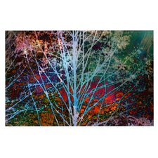 Trees in the Night by Sylvia Cook Decorative Doormat