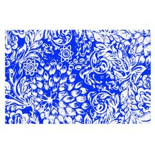 Bloom Blue for You by Vikki Salmela Decorative Doormat