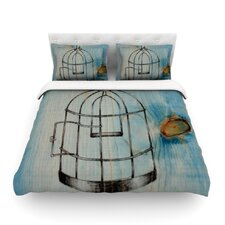 Bird Cage by Brittany Guarino Light Cotton Duvet Cover