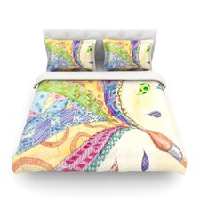 The Painted Quilt by Catherine Holcombe Light Cotton Duvet Cover