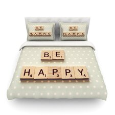 Be Happy by Cristina Mitchell Light Cotton Duvet Cover