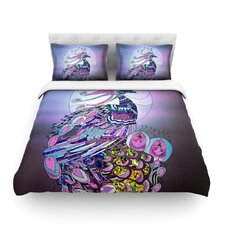 Peacock Light by Catherine Holcombe Cotton Duvet Cover