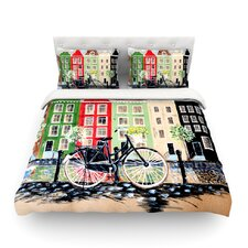 Bicycle by Christen Treat Light Cotton Duvet Cover