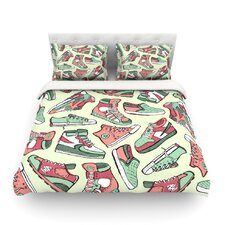 Sneaker Lover II Light by Brienne Jepkema Cotton Duvet Cover