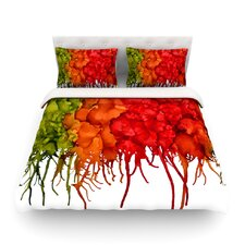 Fall Splatter by Claire Day Light Cotton Duvet Cover