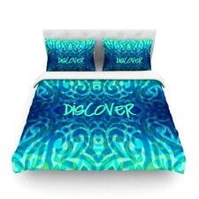 Tattooed Discovery by Caleb Troy Light Cotton Duvet Cover