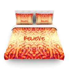 Tattooed Believer by Caleb Troy Light Cotton Duvet Cover